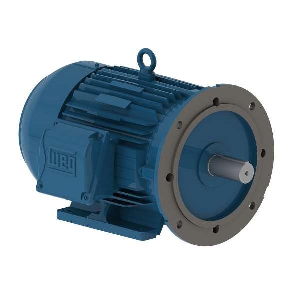 Motor electrico WEG trifasico .7509ET3EM145TDW 0.75 Hp 900 RPM 143/5TD