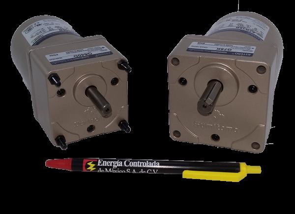 Motorreductor pequeño ejes paralelos fraccionario Astero Sumitomo modelo G620D/A6M06B 6watts 1/125HP 75 RPM